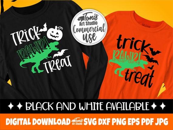 Trick Rawr Treat SVG, Funny Halloween Svg for Kids