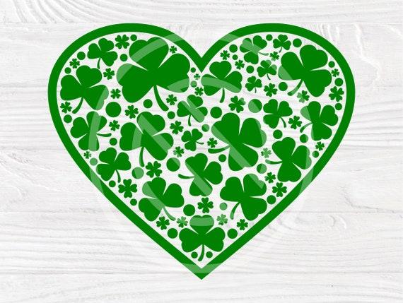 St Patricks Day SVG, Clover Svg, Heart Svg