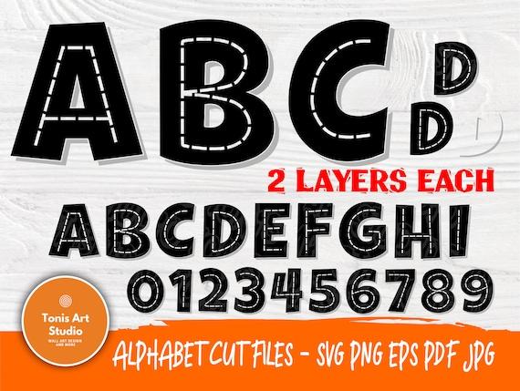 Construction Font Svg | Kids Font Svg | Svg Cut Files | Monogram Svg | Cricut Silhouette Cut Files | Construction Alphabet | Vinyl Decal