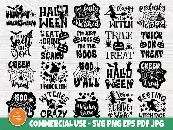 Halloween SVG Bundle, Horror Svg, Pumpkin Signs