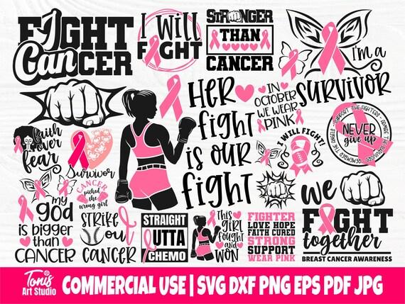 Cancer Awareness SVG Bundle, Breast Cancer Svg Png