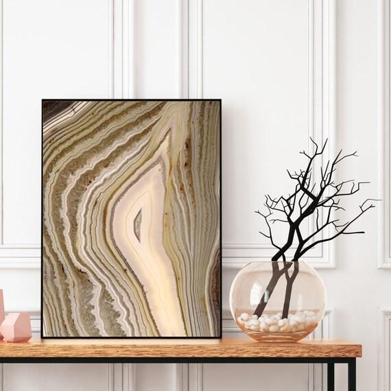Agate Wall Art, Digital Download, Natural Agate Photography Print, Modern Art, Abstract Wall Art, Colourful art, Geode Poster.