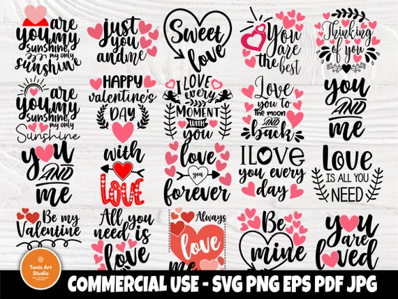 Valentines SVG Bundle, Valentine Svg, Heart Svg