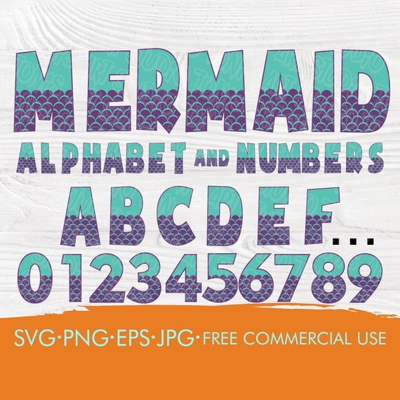 Mermaid font SVG | Mermaid alphabet | Mermaid cut files | Mermaid letters and numbers | Patterned font svg | Cut files for cricut silhouette