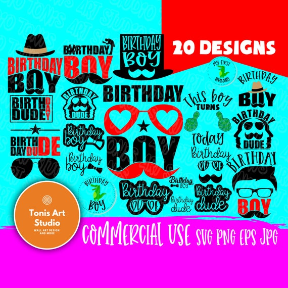 Birthday Boy SVG, Birthday Shirt Svg Cut Files