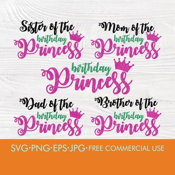 Birthday princess SVG | Birthday princess family svg | Mom and dad svg | Birthday girl svg | Princess svg | Princess cut files | Cricut file