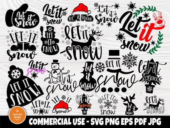 Let it Snow SVG Bundle, Winter Svg, Christmas Svg