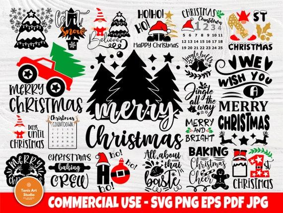Christmas SVG Bundle, Merry Christmas Svg Cut File