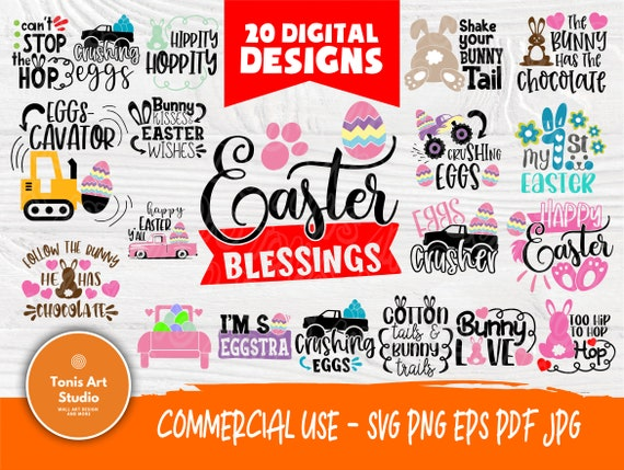 Easter SVG Bundle | Happy Easter Svg | Funny Easter Signs | Easter Cut Files | Cricut, Silhouette Files | Bunny Svg | Egg Svg | Cutting File