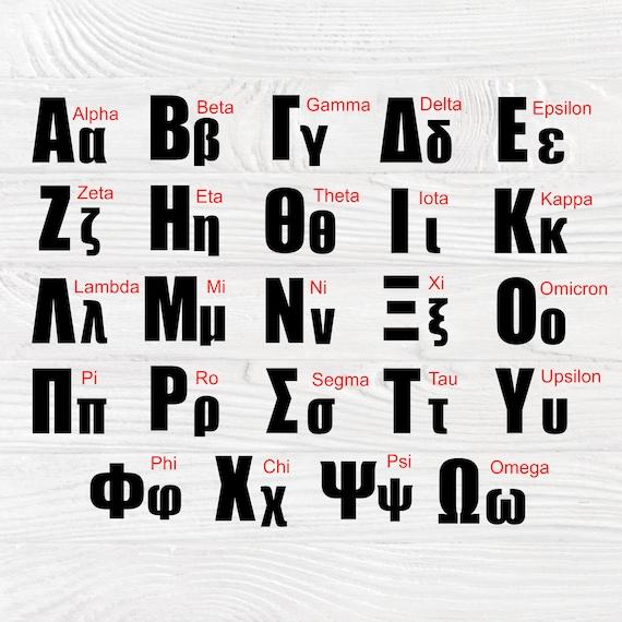 Greek font SVG | Greek alphabet svg | Greek letters svg | Greek letters cut files | Cricut and silhouette cameo | Greek font clipart