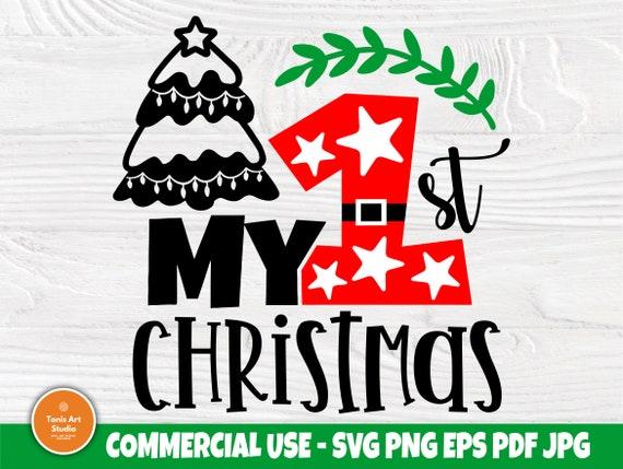 1st Christmas SVG, Baby Christmas Svg Cut File