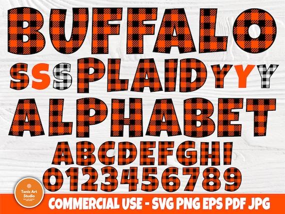 Buffalo Plaid SVG, Plaid Alphabet, Plaid Font, Plaid Letters, Buffalo Plaid Monogram Svg, Silhouette Cut Files, Svg Files for Cricut