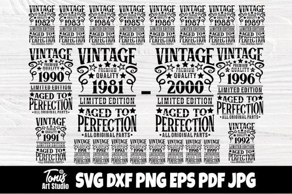 1981-2000 SVG Bundle, Birthday Svg, Vintage Svg