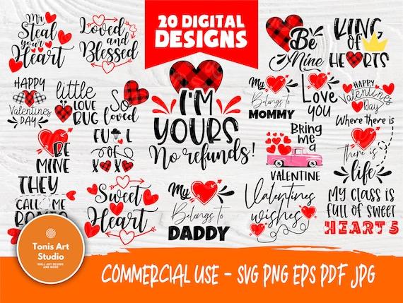 Valentine's SVG Bundle   Valentines Svg   Love Svg   Valentines cut files   Cut Files for Crafters   Cricut and Silhouette files   Heart Svg