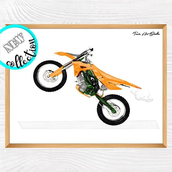 Dirt Bike Wall Art, Boys Room Decor, Printable Art