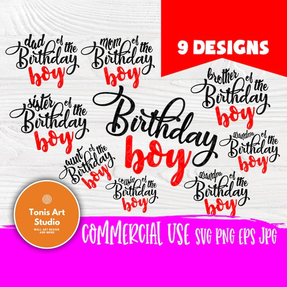 Birthday boy SVG | Birthday boy family svg | Mom and dad svg | Birthday boy shirt | Birthday svg | Birthday boy cut files | Cricut cut files