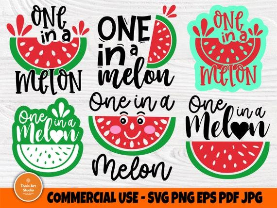 One in a Melon SVG Bundle, Watermelon, Summer Svg