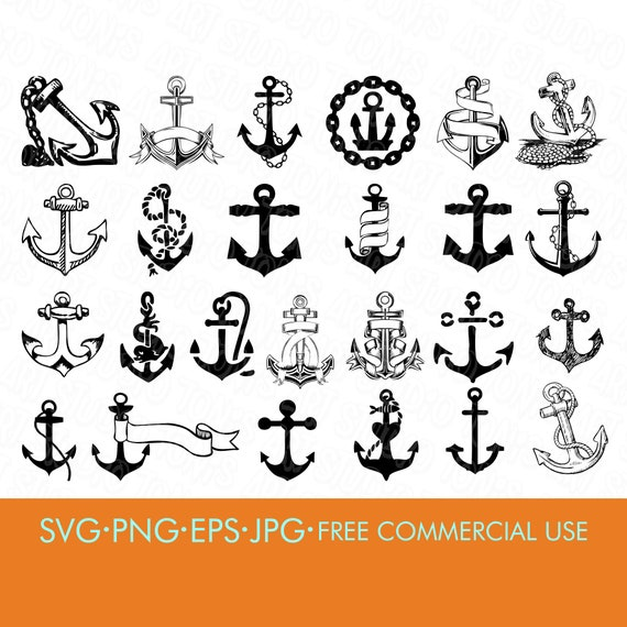 Anchor Svg Nautical Svg Anchor Bundle Svg Anchor Etsy