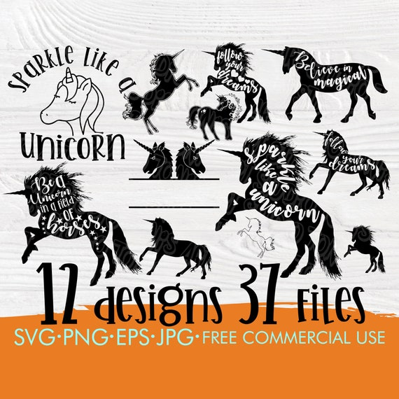 Unicorn SVG Bundle, Horse Svg Cut Files Girl Shirt