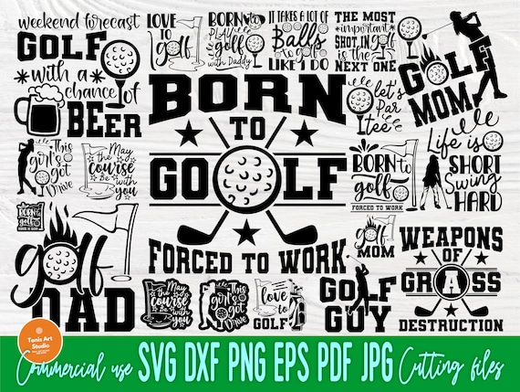 Golf Bundle SVG, Golfer Svg, Golfing Svg Cut Files