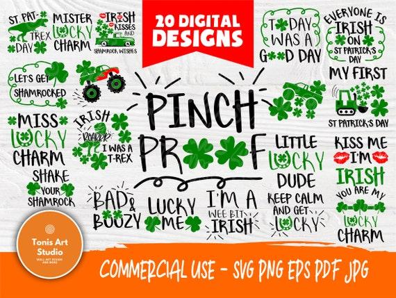 St Patrick's Day SVG Bundle   St Patrick's Day Sayings   Mister and Miss Lucky Charm Svg   St Patrick's shirt  Designs   Cricut Cut Files