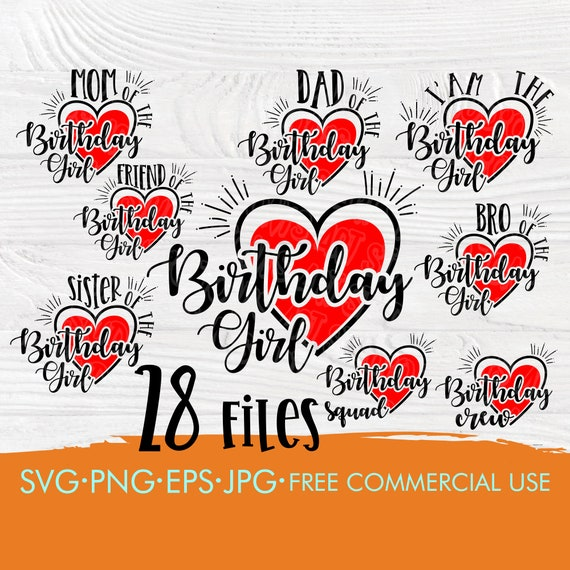 Birthday girl SVG bundle for cricut and silhouette | Girl svg | Mom birthday girl svg | Birthday squad svg | Birthday crew svg | Cut files