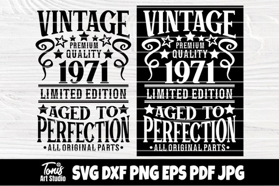 50th Birthday Svg, Aged to Perfection, Vintage Svg