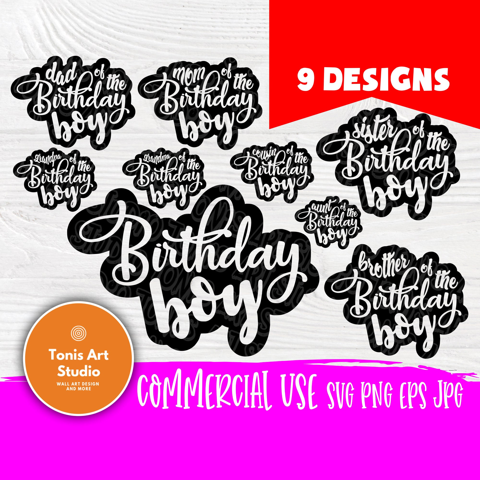 Birthday boy SVG | Birthday boy family svg | Mom and dad ...