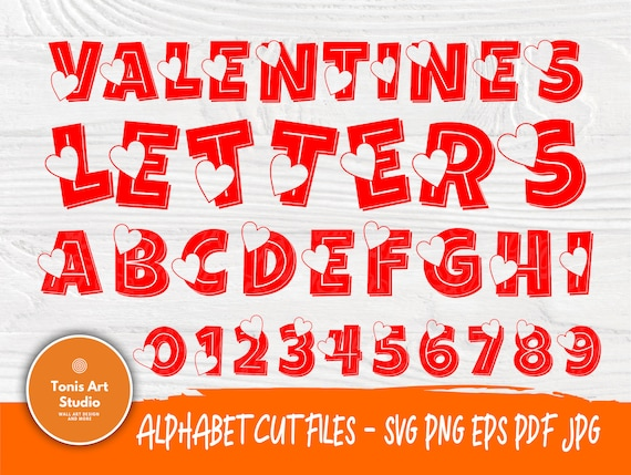 Heart Font SVG | Valentines Alphabet Svg | Font Cut Files | Love Svg | Heart Letters and Numbers | Svg Files for Cricut | Heart Monogram Svg