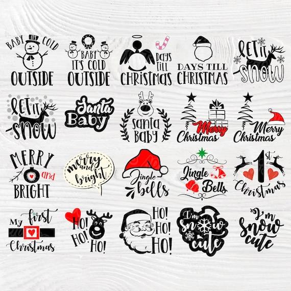 Christmas signs SVG | Christmas SVG | Svg bundle | Merry christmas svg | Christmas clipart | Silhouette cut files | Cricut files | Designs