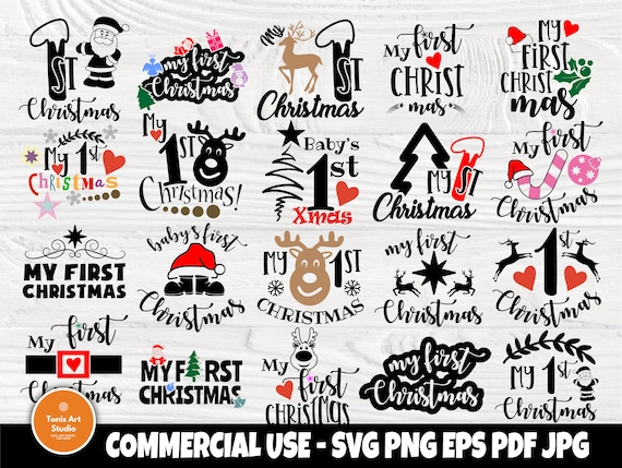My first christmas SVG | Svg bundle | My 1st christmas | Christmas svg | Cricut and silhouette cut files | Cutting files | Svg designs