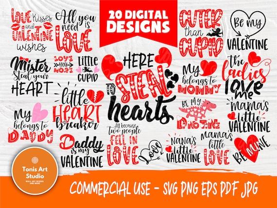 Kids Valentine's Svg Bundle   Valentines Day   Svg files for cricut   Hearts Svg   Love Svg   Valentine Designs   Svg Valentines Cut Files