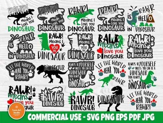 Dinosaur SVG Bundle, Dinosaur Signs Svg, Cut Files
