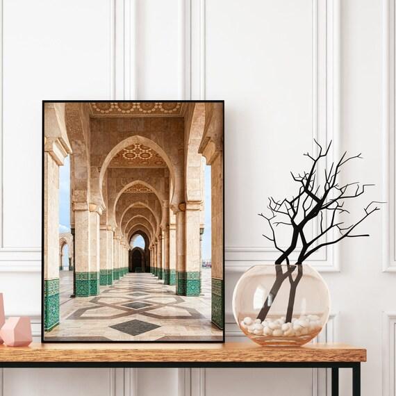 Moroccan decor Print, Boho art print, Bohemian decor, Architecture print, Large wall art, Travel photography, Digital Download.