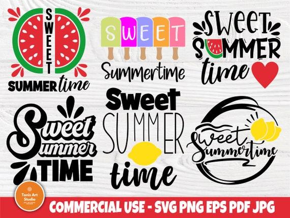 Sweet Summertime SVG, Watermelon Svg, Summer Svg