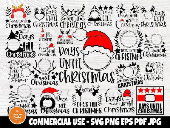 Days Until Christmas SVG Bundle, Svg Cut Files