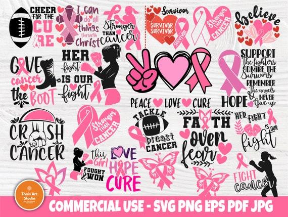 Breast Cancer SVG Bundle, Survivor Svg, Ribbon Svg