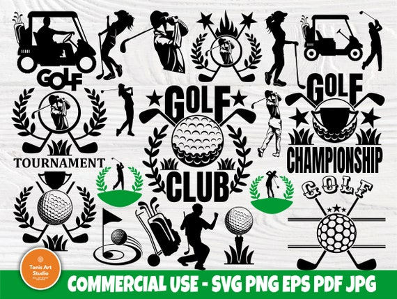Golf SVG Bundle, Sports Svg, Logo Design Cut Files