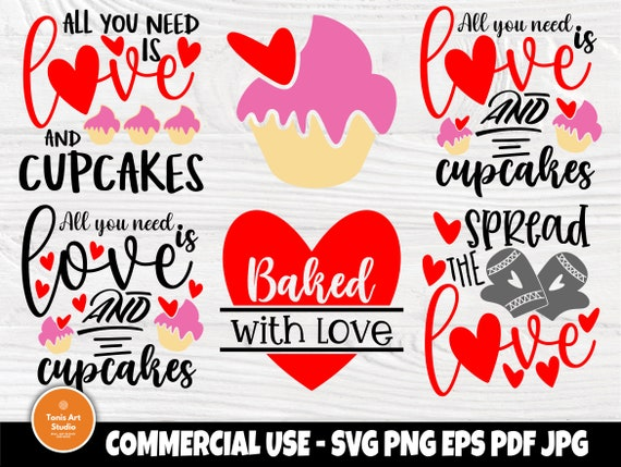 Valentines Day Pot Holder SVG Bundle, Cupcake Svg