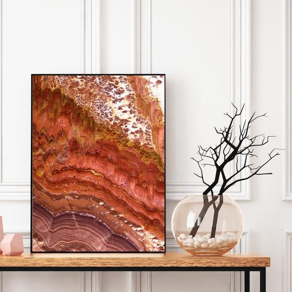 Agate Wall Art Print, Digital Download, Natural Onyx Gem Decor, Elegant Modern Art, Abstract Wall Art, Geode Poster, Onyx Stone Print.