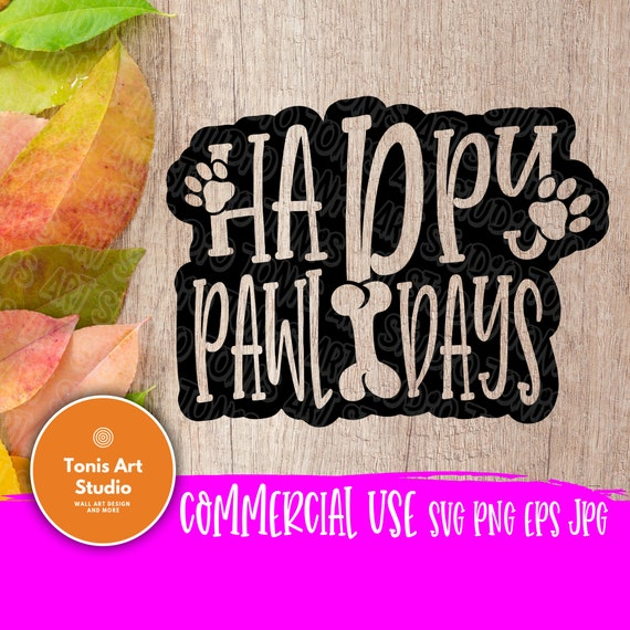Happy Pawlidays SVG cut file | Christmas Cut File | Holiday Home Decor Saying | Pet dog svg | Wood Sign Quote | Farmhouse svg | Cricut files