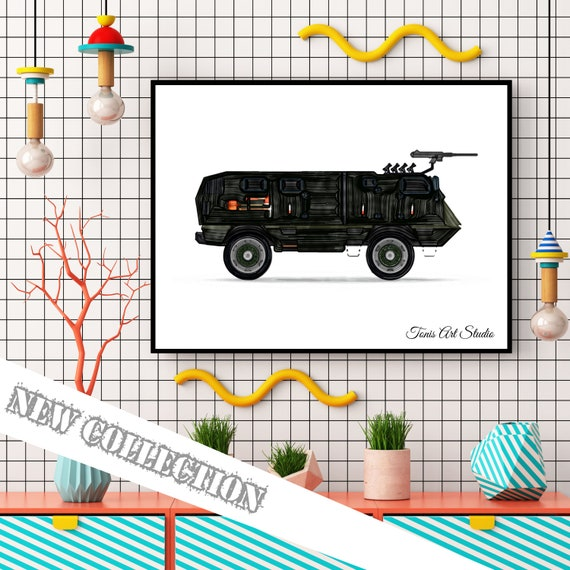 Army Vehicles Decor, Transportation Art, Military Print, Boys Room Decor, Watercolor, Toddler Room Art, Printable Wall Art, Digital Artwork