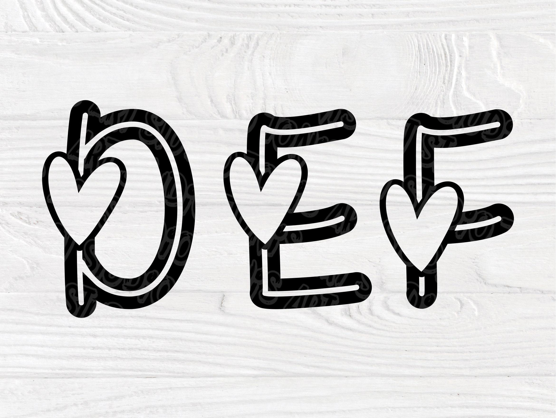Download Valentine font SVG | Heart Alphabet Cut file | Love Svg ...