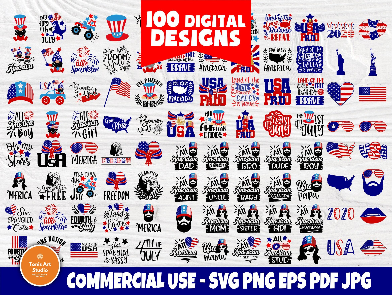 4th Of July Svg Bundle Patriotic Svg Usa Shirts