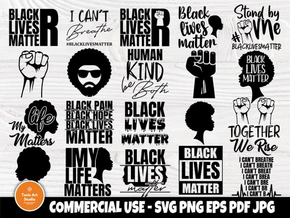 Black Lives Matter SVG Bundle, I Cant Breathe Svg
