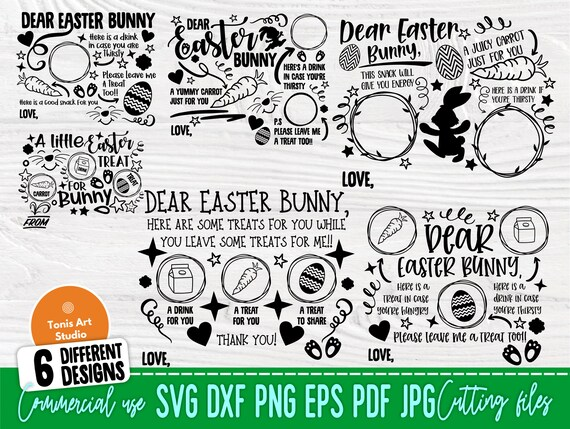 Easter Tray SVG Bundle, Dear Easter Bunny Svg