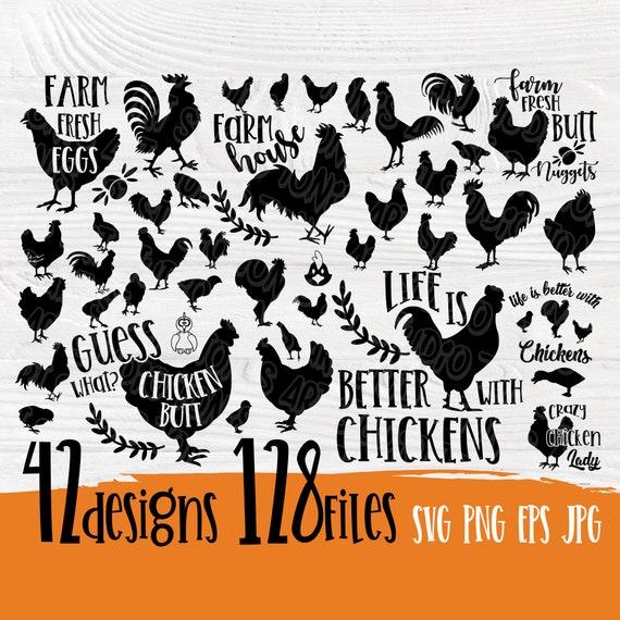 Chicken SVG cut file | Chicken bundle svg | Farmhouse sign | Chicken silhouette | Chicken clipart | Funny quotes svg | Chicken vector