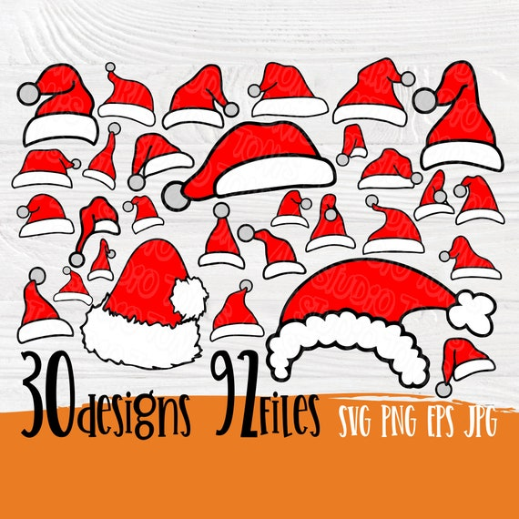 Santa hat SVG | Christmas hat svg | Svg bundle | Santa svg | Christmas svg | Hat svg | Santa hat cut files | Santa claus hat | Cricut files