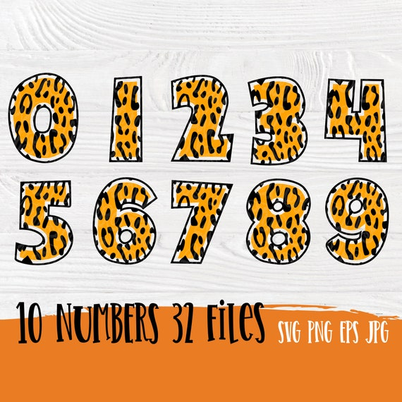 Numbers SVG | Tiger numbers | Number svg | Numbers cut files | Svg files for cricut | Tiger svg | Birthday numbers svg | Silhouette cut file