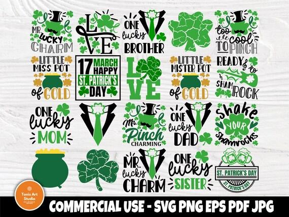 St Patrick's Day SVG Bundle, Shamrock Svg, Lucky